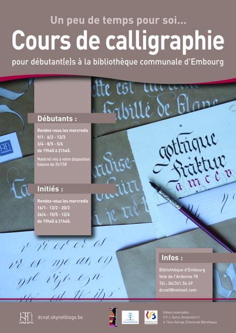 Cours de calligraphie